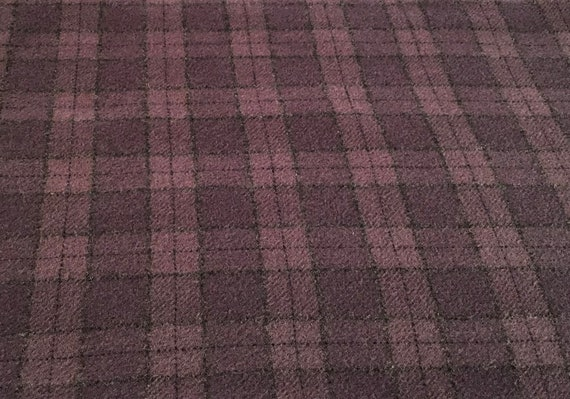 Grape Ape Plaid, a mill dyed wool fabric for Rug Hooking and Applique, W592, Shades of purple plaid, Fat 1/4 or Fat 1/8
