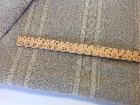 Fat 1/4 yd, Warm Gray Stripe, Wool Fabric for Rug Hooking and Appliqué, W269, Light Gray, Linen Gray, Khaki Gray