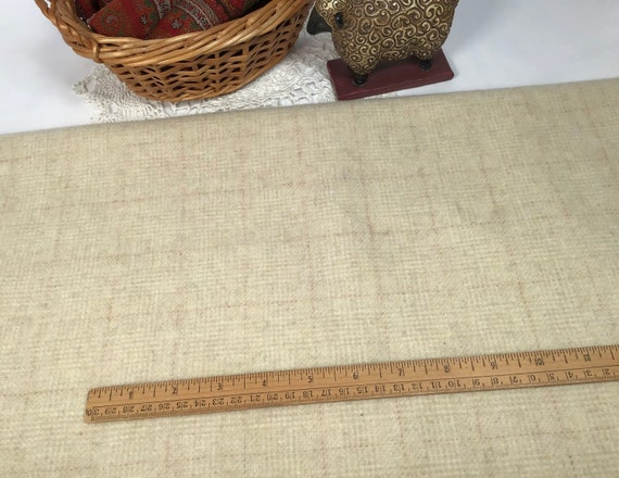 Butter Cream, a mill dyed wool fabric for Rug Hooking and Applique Wool, W573, Creamy country white