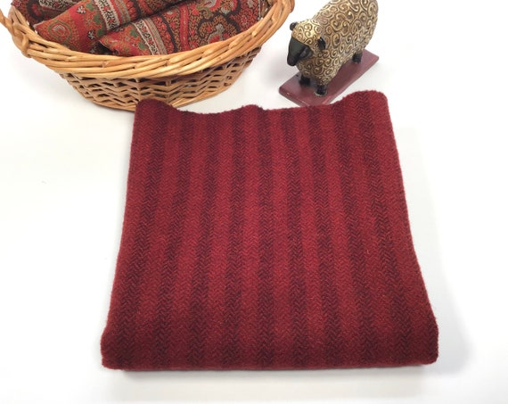 Beets and Berries, a mill dyed wool fabric for Rug Hooking and Appliqué, W507, Red Stripe wool