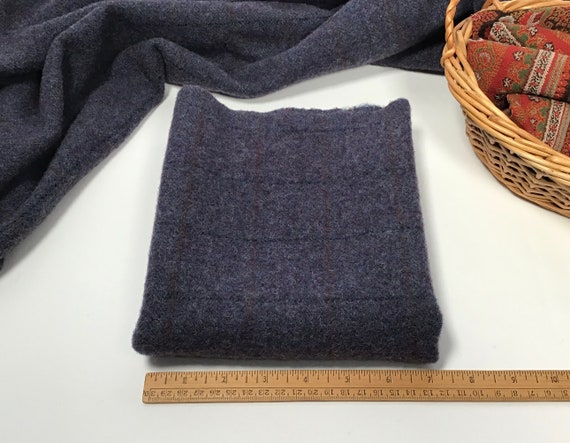 Nevermore, a blueish purple mill dyed wool for rug hooking and applique, W408, Heathered Purple Wool