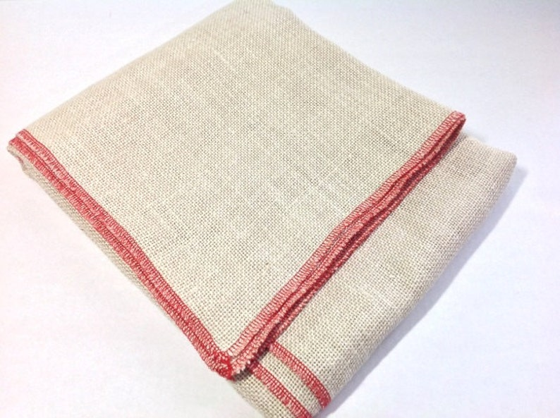 Half Yard Bleached Primitive Linen for Rug Hooking with image 0