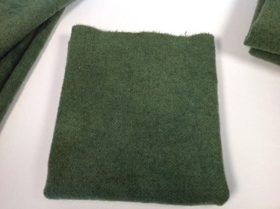 1/4 yard, Pine Grove Green, Hand Dyed Wool Fabric, W502, for rug hooking and applique, Medium Green,  Evergreen, Primitive Green