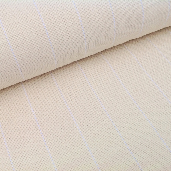 One Yard Cotton Monks Cloth for Rug Hooking, Raw Edges, S202, Foundation Fabric