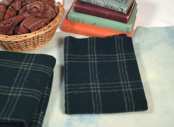 Spruce Ridge Teal, Wool for Rug Hooking and Applique, Select-a-Size, W548, Deep Green Blue Wool, Mill Dyed Wool Fabric