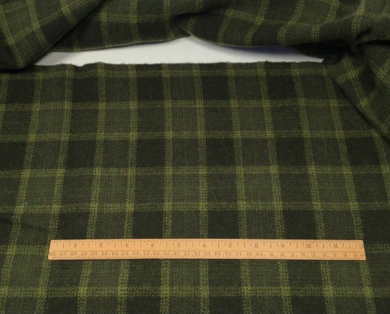 Kermit the Frog, a mill dyed wool for Rug Hooking and Appliqué, W563, Large Green Plaid