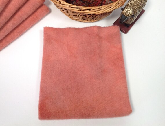 Fat 1/4 yd, Coral Rose, Hand Dyed Wool Fabric for Rug Hooking and Applique,  W507,  Vintage Rose, Terra Cotta Rose, Dusty Salmon Rose