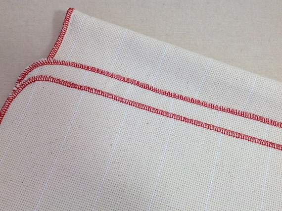 "Half Yard Monks Cloth for Rug Hooking with Serged Edges, 30"" x 36"", J781, Rug Hooking Backing Fabric, Foundation Fabric"