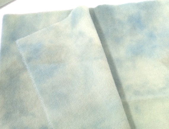 1) Fat 1/4 yard, Pale Aquamarine, Hand Dyed Wool Fabric for Rug Hooking and Applique, W499, Light Blue Green Wool, Skies and Water Wool