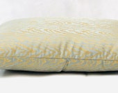 Eden Antique - Blue Green and Gold Pillow Cover - Decorative Pillow Cover - Accent Pillow