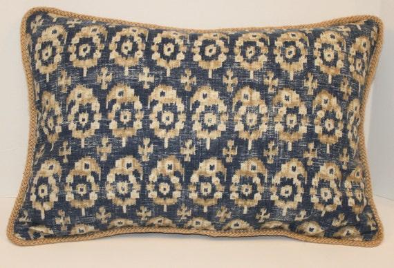 Antora Paisley Slate Ralph Lauren Pillow Designer Pillow Etsy New Jute Pillow Cover With Braided Trim