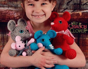 Mouse Crochet Pattern - Squeaks The Mouse - Amigurumi