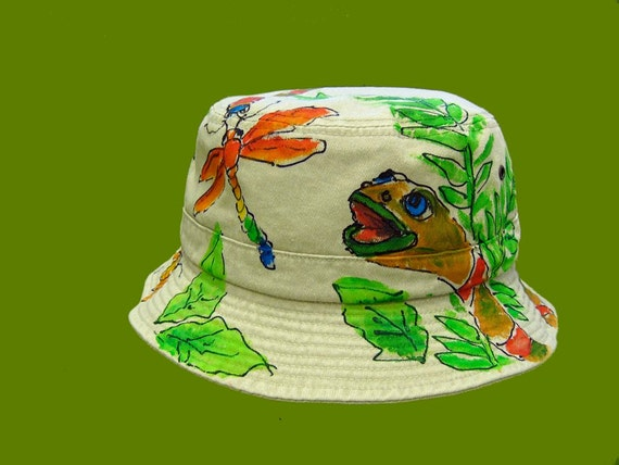 cc0e2423aa7 Jungle Snake Critter Bucket Hat Handpainted