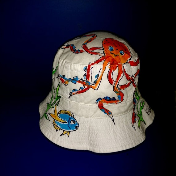 b95c65ceb01 Octopus Bucket Hat Handpainted for Adults and Kids
