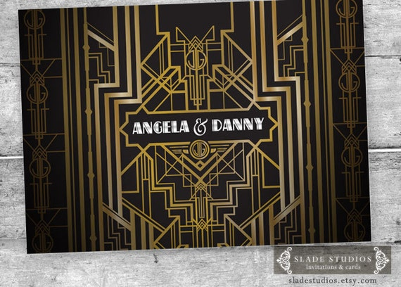 Wielki Gatsby Glamour 1920 Ty Plakat Party Drukowania Spersonalizowane Urodziny Plakat Wydarzeń