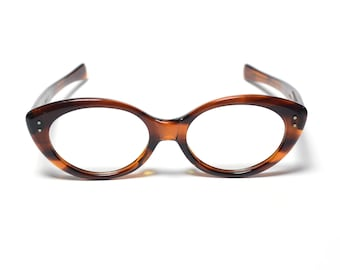 2bbabef3e2 vintage eyewear 60s cat eye glasses retro oval eyeglasses frames brown  tortoiseshell 1960 American Optical Vivacious