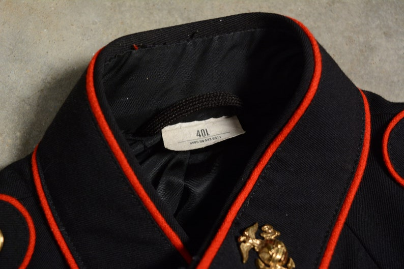 vintage 80s usmc blue dress jacket Marine uniform 1980 40L United States Marine Corp South Jersey Clothing rifle sharpshooter badge