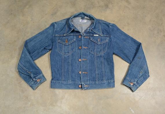 vintage 60s 70s denim jacket Wrangler jean jacket