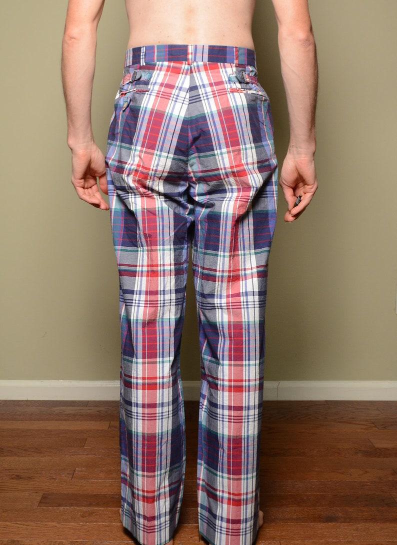 817e8f116 Vintage 80s Polo pants Ralph Lauren plaid pants buckle back