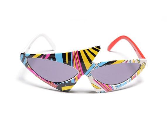 vintage 80s avant garde sunglasses new wave Alain