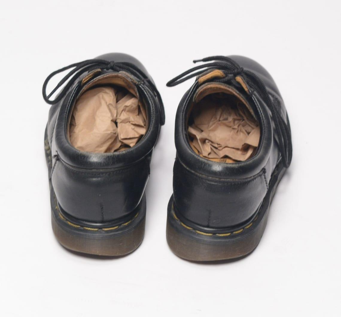 vintage 80s Dr. Martens cuero negro oxford zapato 1980 grunge bota baja Reino Unido 10 US 11 hombres ropa para hombre