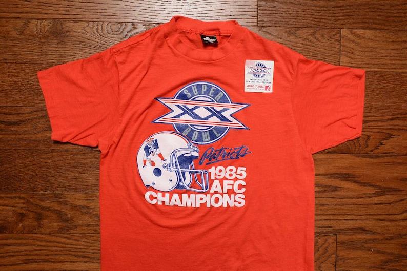 e2ae9fa1a Vintage 80s Patriots t-shirt 1985 New England Pats t-shirt