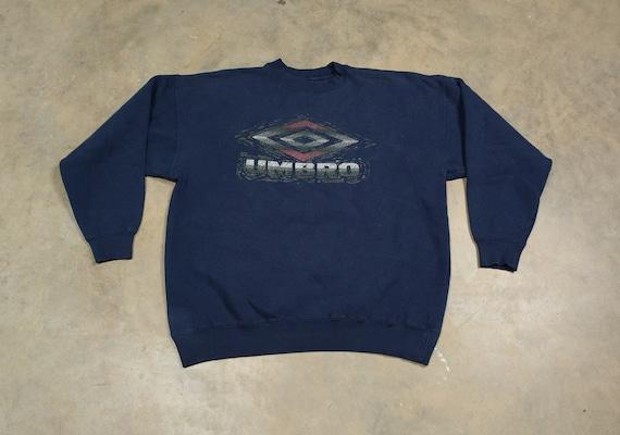 vintage 90s Umbro sweatshirt navy blue soccer foot