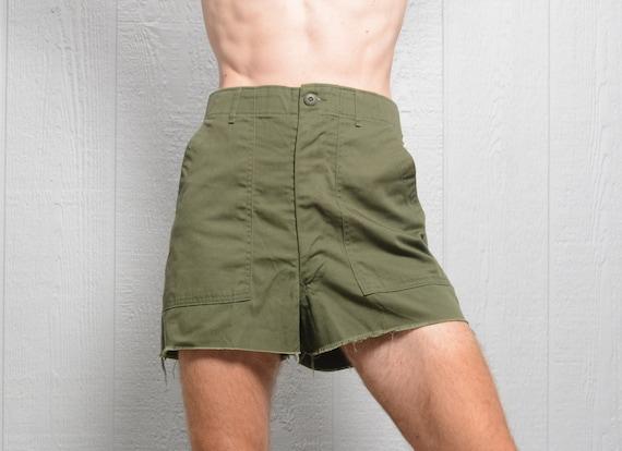 vintage 70s OG shorts cutoff army military pants 1