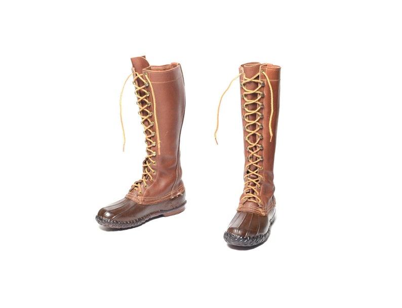 62cb93fd002 Vintage 60s L.L. Bean boots 16 Maine hunting shoes duck