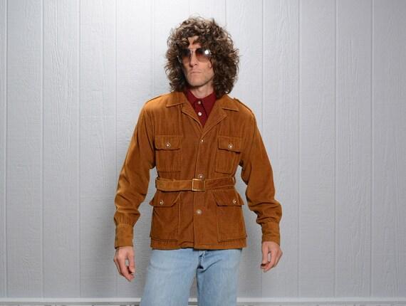 vintage Norfolk jacket 70s belted corduroy sport j