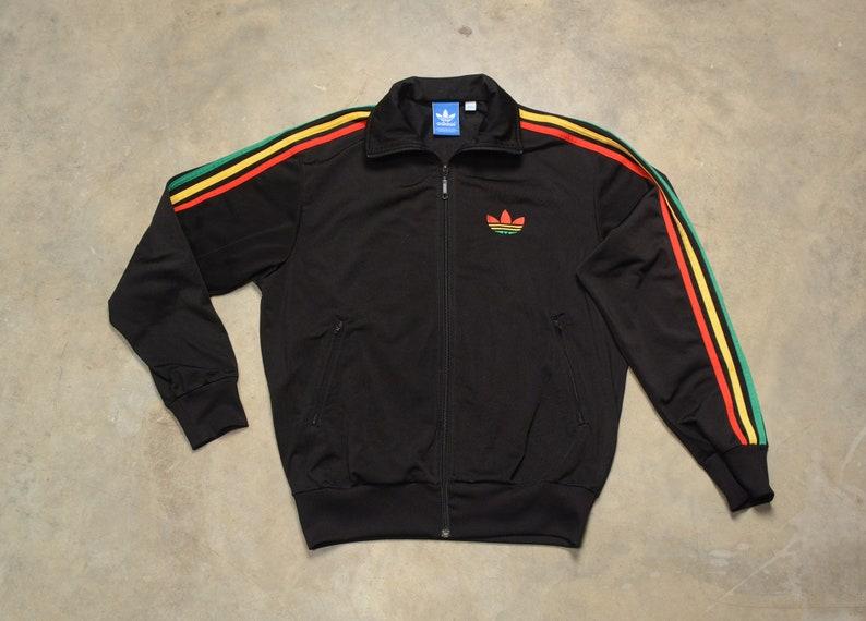 RARE ADIDAS ORIGINALS Colorblock track warm up jacket vintage firebird mens L