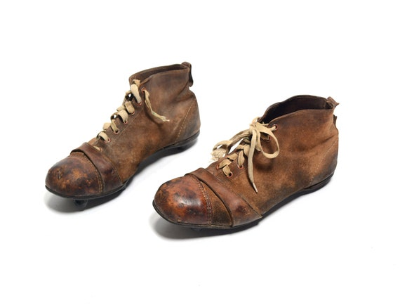 antique 20s football cleats soccer rugby The Cert