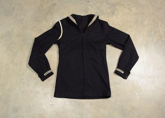 vintage 40s 50s US Navy sailor uniform shirt 1940… - image 1