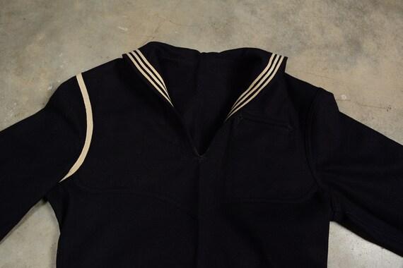 vintage 40s 50s US Navy sailor uniform shirt 1940… - image 3