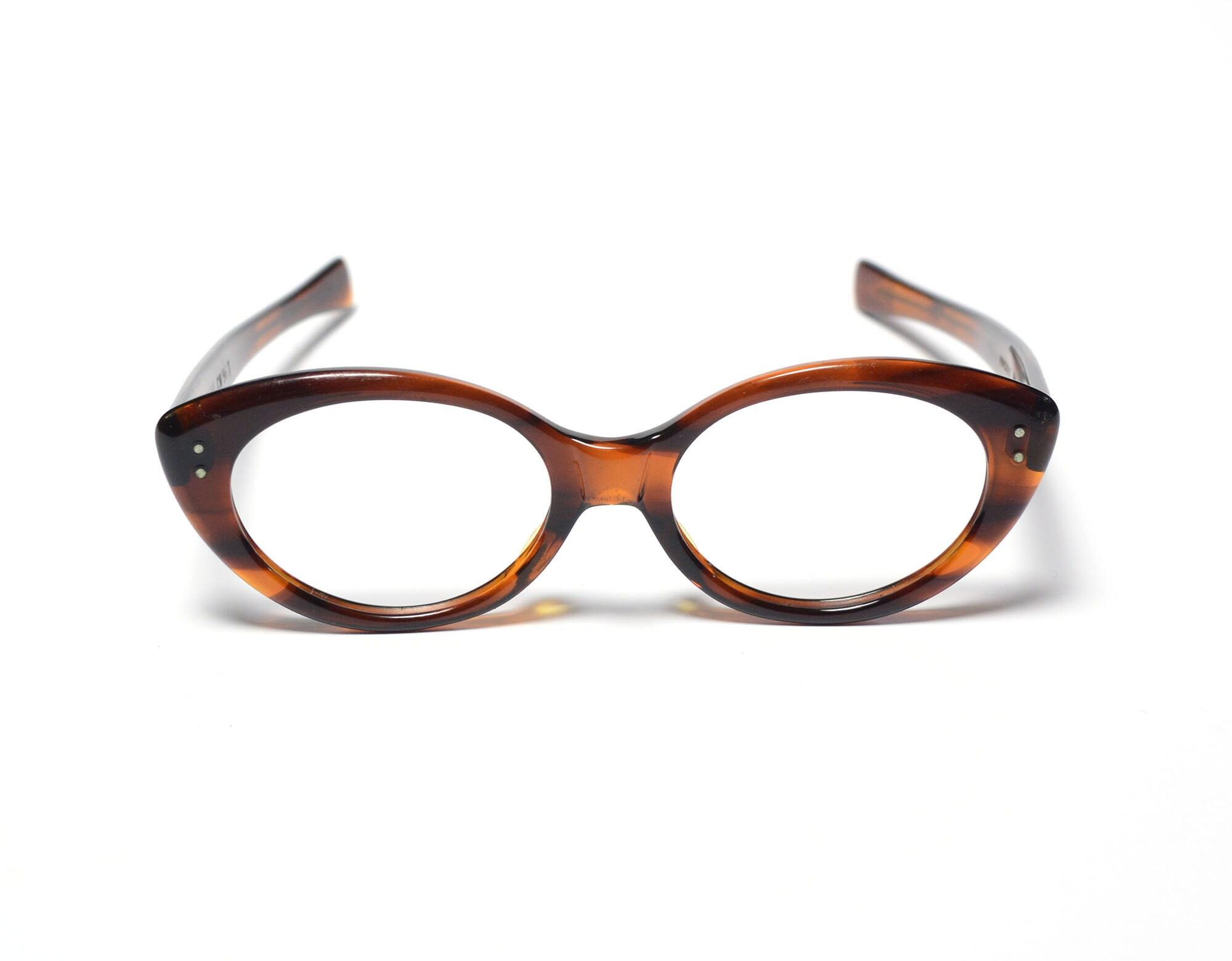 ff74584999a40 Vintage eyewear 60s cat eye glasses retro oval eyeglasses