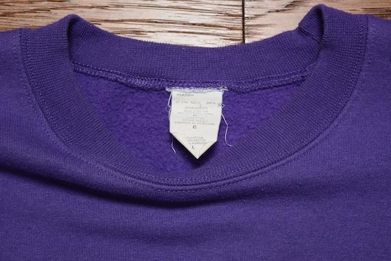 Vintage 90er Jahre Original Rufnek Sweatshirt Charlotte Hornissen Pullover hip Hop street style urban Streetwear 1990 LXL lila sweatshirt