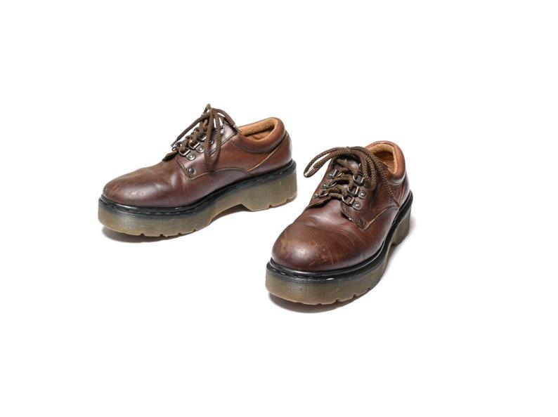1dc8965fb9b9 Vintage Dr. Martens brown leather shoe platform creeper grunge