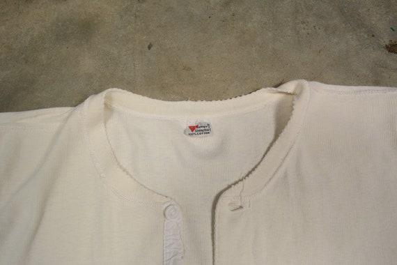 vintage union suit onesie thermal underwear one p… - image 5