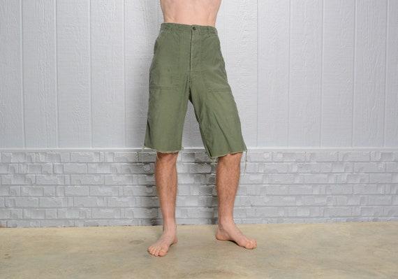 vintage 50s 60s OG shorts cutoff army military pan