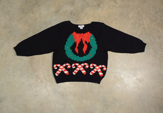 vintage 80s Christmas sweater holiday jumper 1980