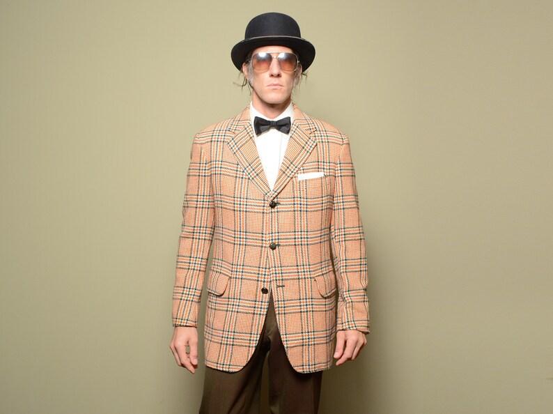 091bfee86c5 Mens vintage sport coat 70s wool tweed sport jacket 1970