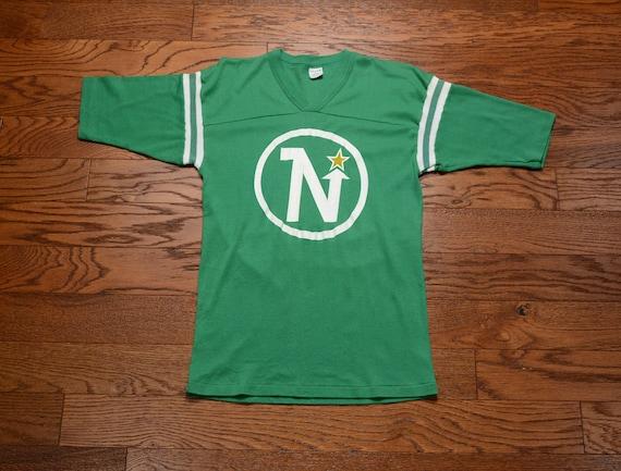 finest selection b2ca5 8e5bb vintage 70s Minnesota Northstars jersey t-shirt 1970 NHL Logo 7 hockey  jersey tee shirt S/M slim slimfit v-neck