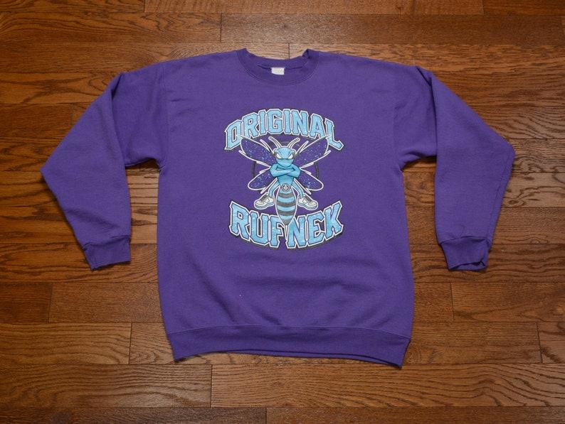 c1c6d67eb843c vintage 90s Original Rufnek sweatshirt Charlotte Hornets jumper hip hop  street style urban streetwear 1990 L/XL purple sweatshirt