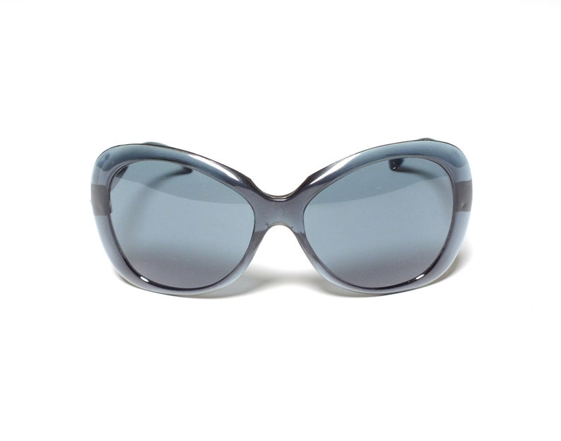 76bcda9d9719f Vintage 60s 70s sunglasses clear blue purple plastic frame