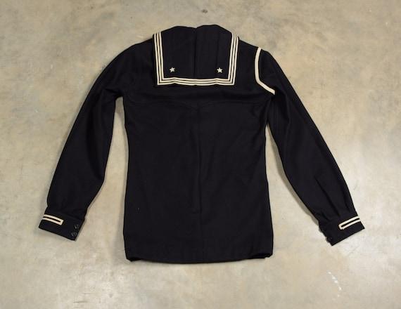 vintage 40s 50s US Navy sailor uniform shirt 1940… - image 2