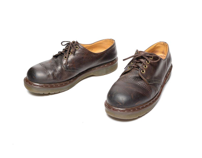 37e8ba09bf76 Vintage 80s 90s Dr. Martens brown leather oxford shoe creeper
