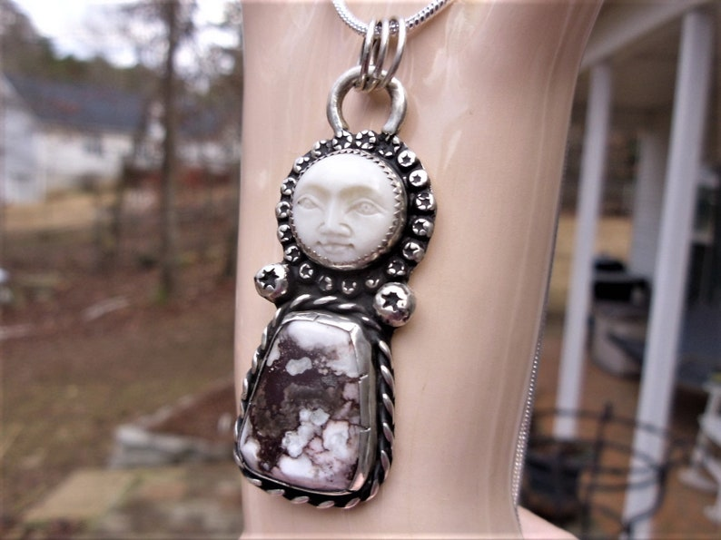 R29---Moon Face and Wild Horse Pendant