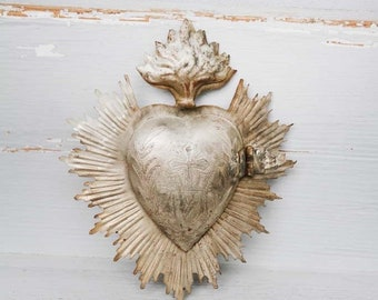 Vintage French Milagro Ex Voto Reliquary Relic Religious Art