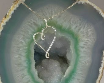 Izabel- Tender Journey Jewelry Collection- Heart, one side smaller than opposite