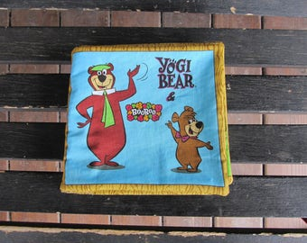 Yogi Bear & BooBoo Quiet Soft Cloth Baby Toddler Story Book Handmade Ready to Read